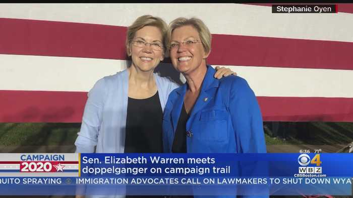 Elizabeth Warren Meets Doppelganger On Campaign Trail