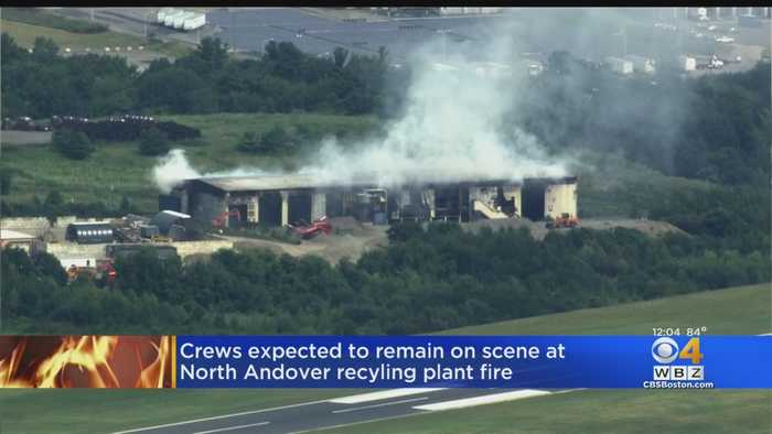 North Andover Recycling Center Destroyed In Long Burning Fire