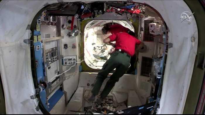 WEB EXTRA: Spacewalk Attaching Docking Port