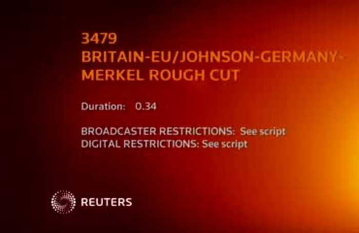 Johnson struggles with Merkel's name