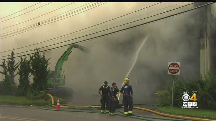 Fire At North Andover Recycling Plant Continues To Smolder