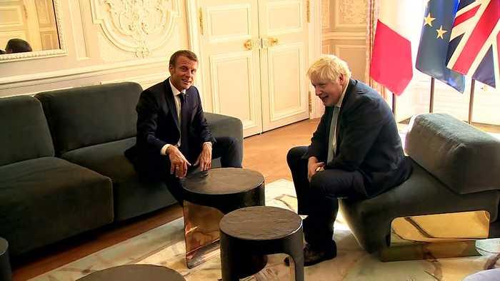 Boris Johnson meets French President Emmanuel Macron