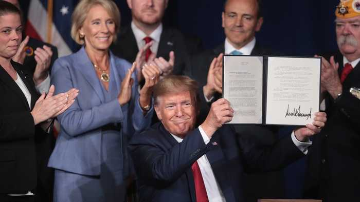 Trump Cancels Student Debt For Thousands Of Veterans With Disabilities