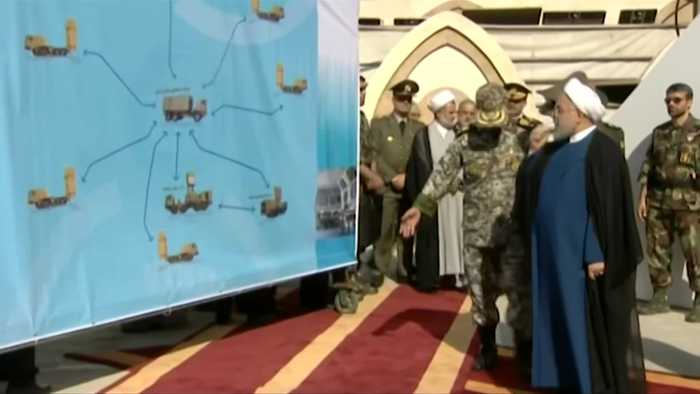 Iran displays domestically built missile system