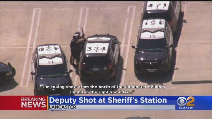 LA County Sheriff's Deputy Shot In Parking Lot Of Lancaster Station, Suspect Still At Large