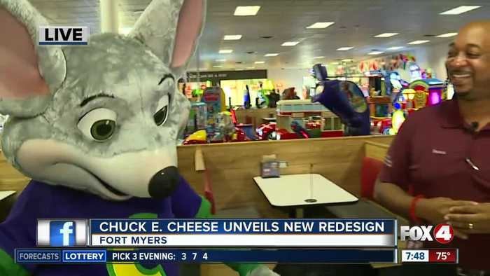 Chuck E. Cheese unveils new redesign in Fort Myers - 7:30am live report