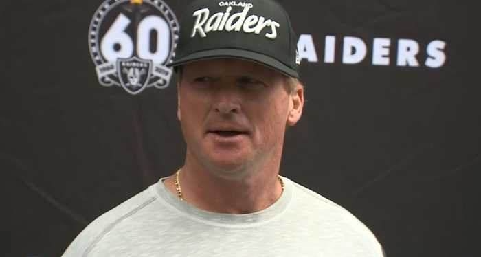 GRUDEN ON BROWN: Raiders coach John Gruden says Antonio Brown is ready to go
