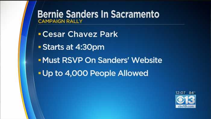 Bernie Sanders In Sacramento
