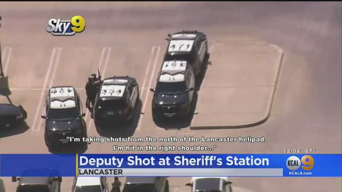 LA Sheriff's Deputy Shot In Parking Lot Of Lancaster Station, Suspect Still At Large