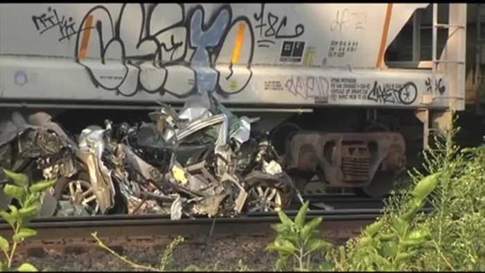 Woman killed when train hits vehicle in South Heidelberg