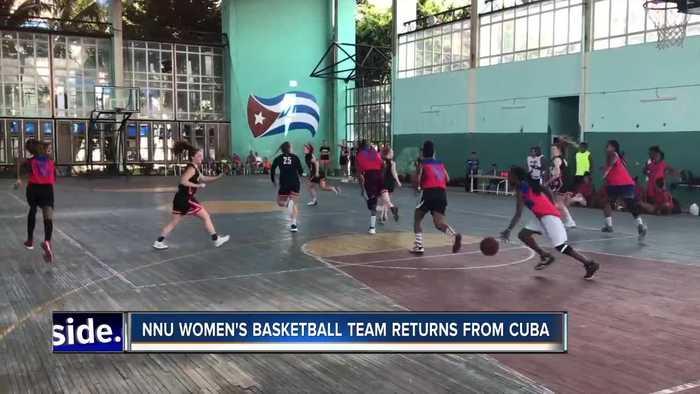 NNU women's basketball team returns from Cuba