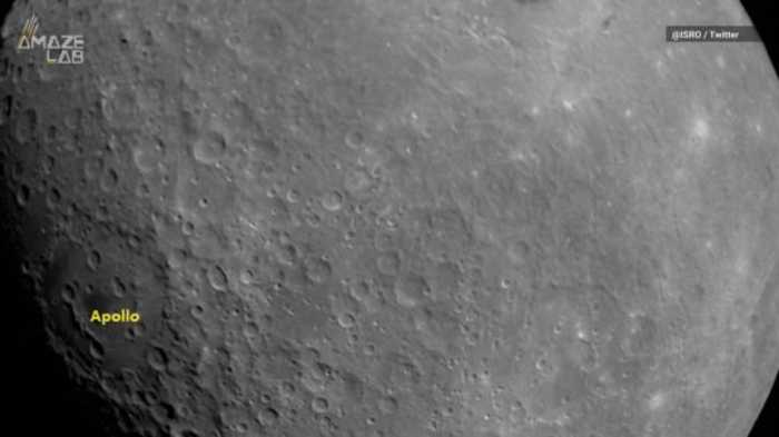 India's Lunar Probe Snaps Its First Glorious Photo of the Moon