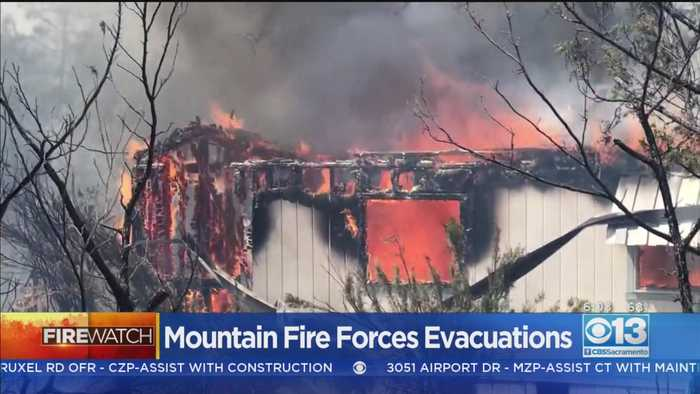 Mountain Fire Evacuation Orders Remain In Place