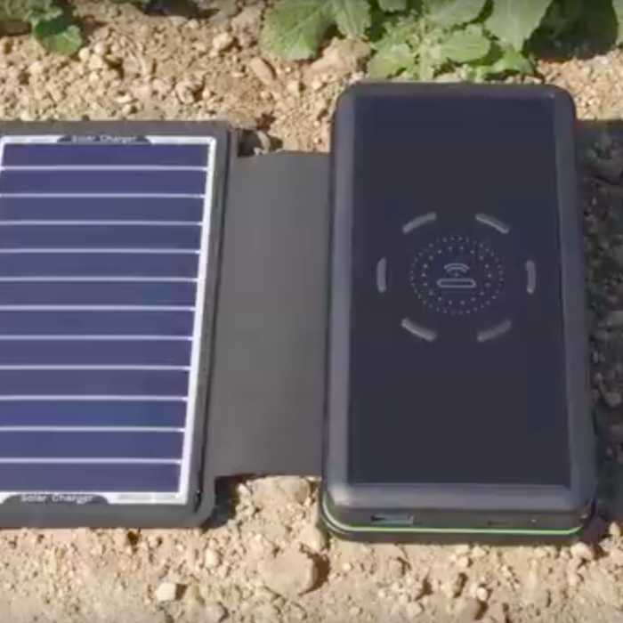 This device charges your phone using solar panels