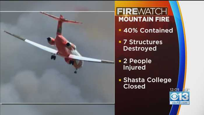 7 Structures Destroyed in Shasta County's Mountain Fire