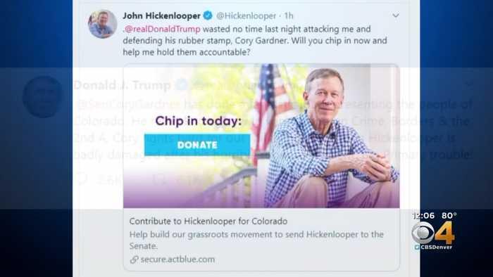 John Hickenlooper Responds To Trump Tweet