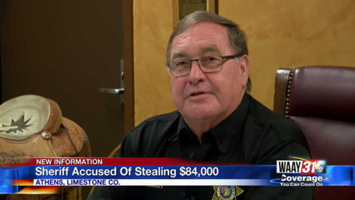Sheriff Accused of Stealing $84,000