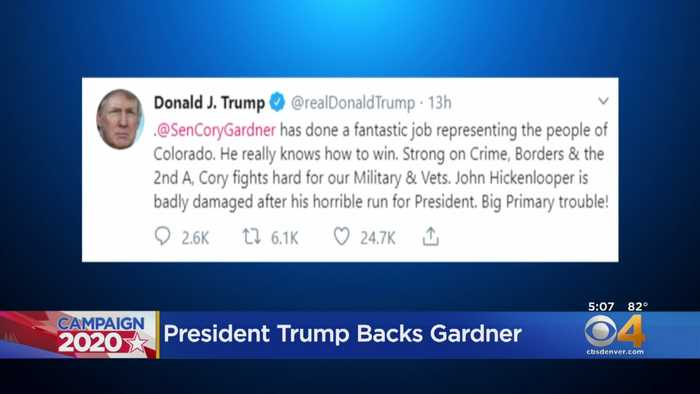 Sen. Cory Gardner Gets Support In Trump Tweet