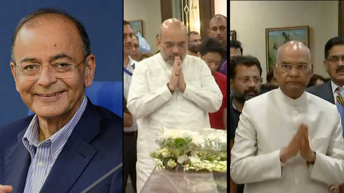 Arun Jaitley dies at 66, leaders pour in to pay last respects at Delhi residence