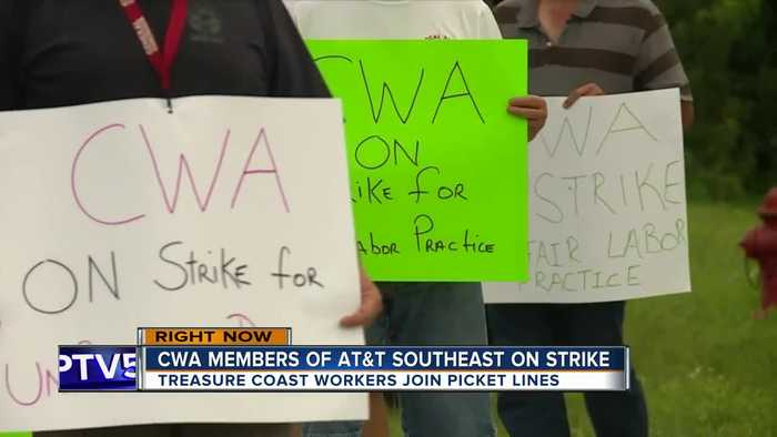 AT&T employees across the Treasure Coast strike