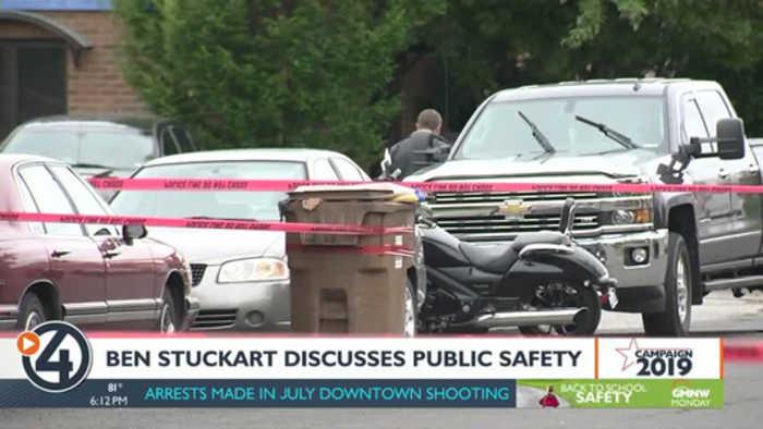 Stuckart talks gun control, public safety