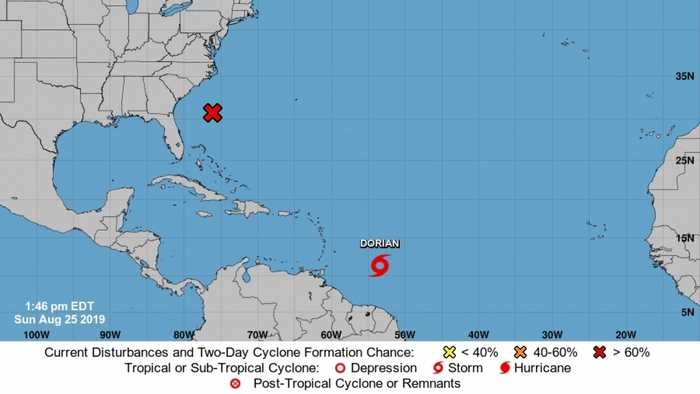 Tropical Storm Dorian Expected To Develop Into Category 1 Hurricane