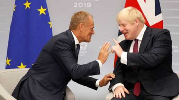 Johnson and Tusk seek common ground