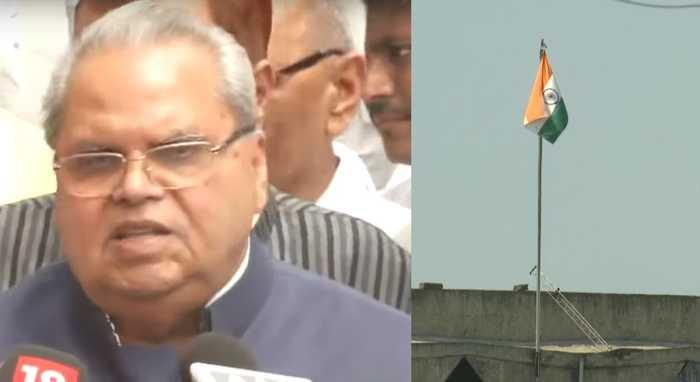 J&K Governor defends Art 370 lockdown; state flag removed from secretariat
