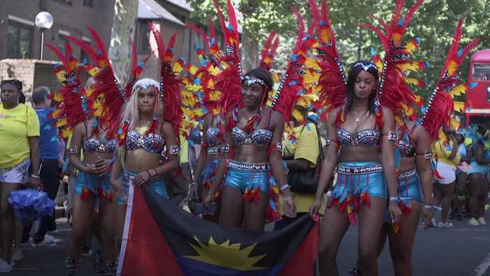 Revellers soak up the sunshine at Notting Hill Carnival
