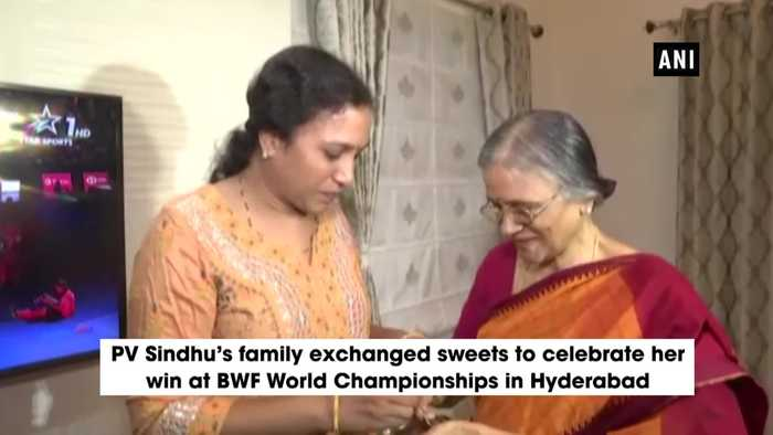 BWF World Championships 2019 PV Sindhu's family celebrates her glorious win