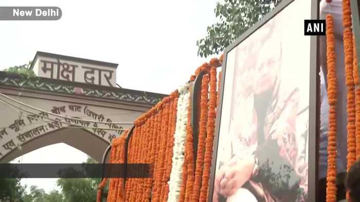 Former FM Arun Jaitley cremated at Nigambodh Ghat