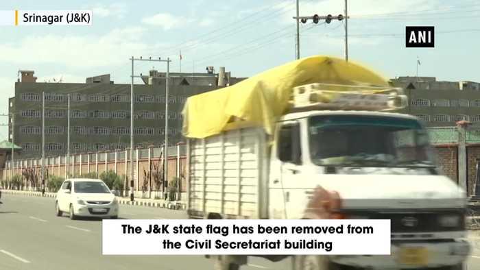 Tricolour unfurled at Civil Secretariat in Srinagar