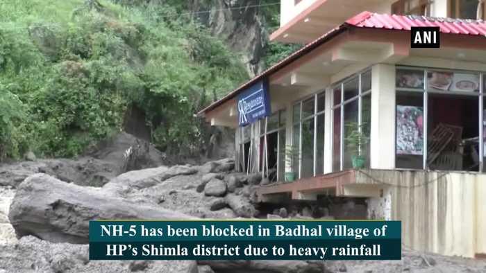 NH-5 blocked after heavy rainfall in HP's Shimla
