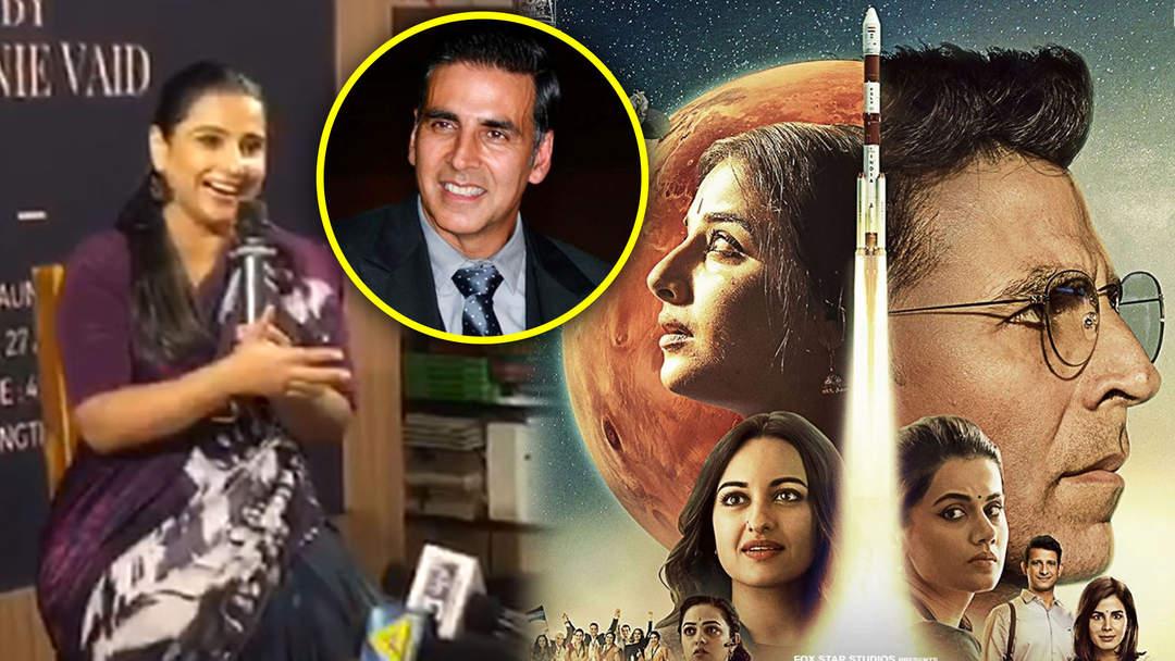 Vidya Balan Gives Akshay Kumar CREDIT For Mission Mangal's Success
