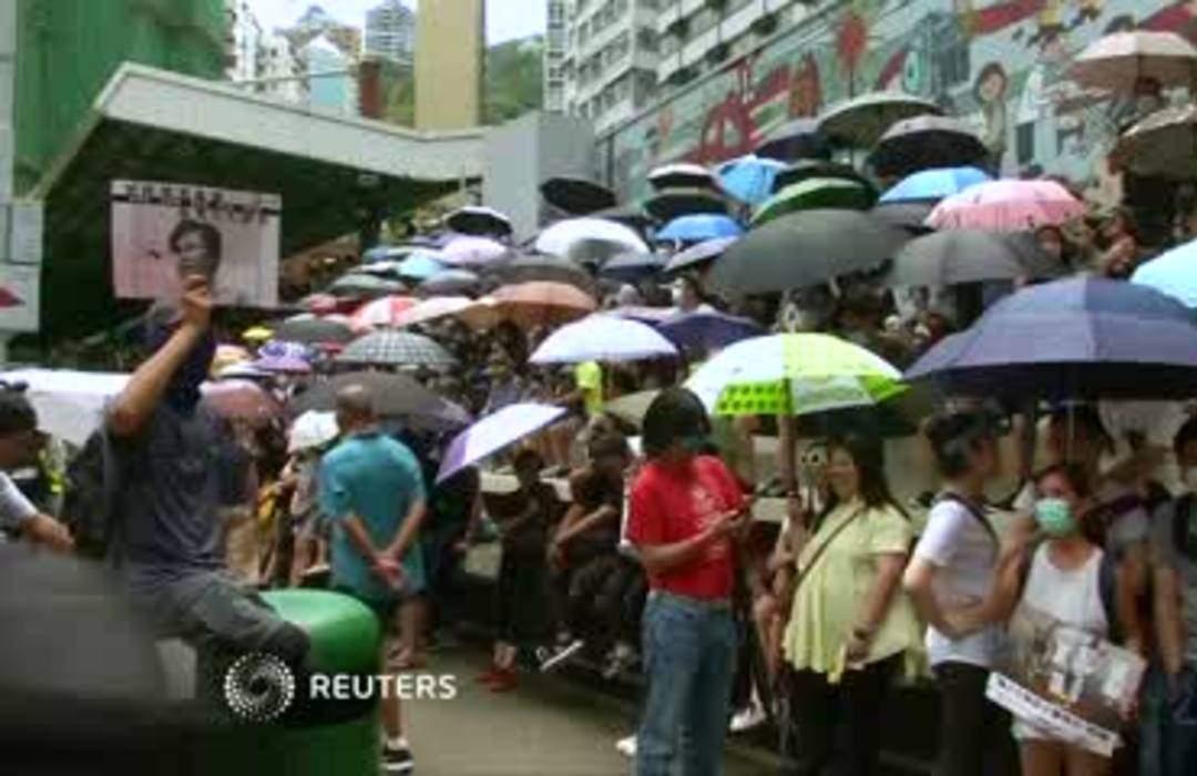 Hong Kong protesters kick off weekend march