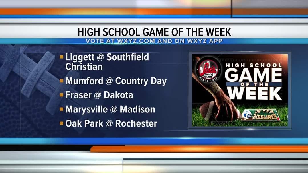 High School Game of the Week voting is open