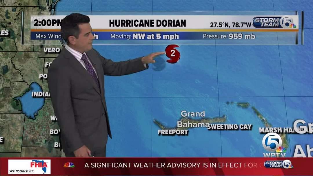 2 p.m. Tuesday Dorian update