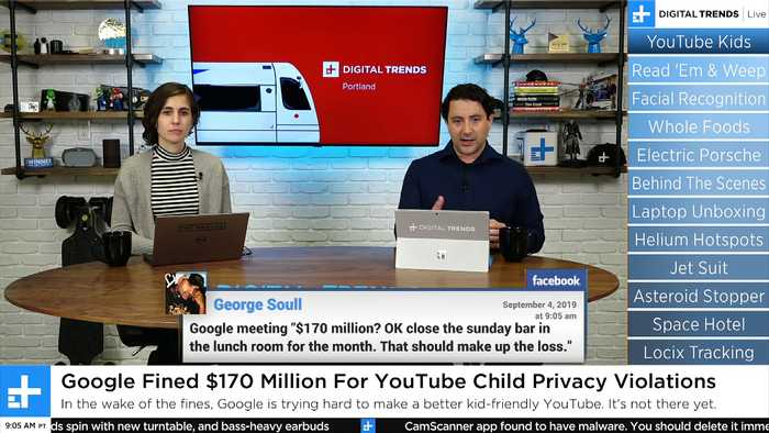 Digital Trends Live - 9.4.19 - Man Delivers Mail To Island Using Jet Suit + YouTube Fined $170 Million For Child Privacy Violati