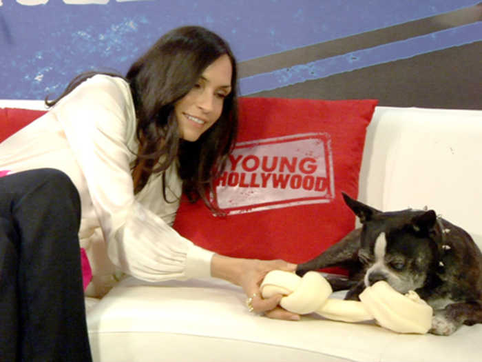 Famke Janssen Has Puppy Love