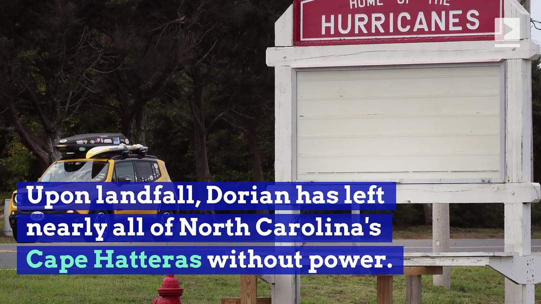 Hurricane Dorian Reaches North Carolina Coast