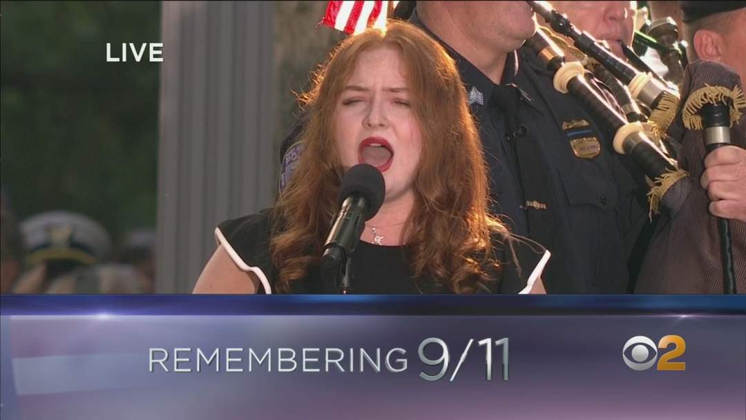 Long Island Teenager Sings National Anthem In 9/11 Remembrance Ceremony
