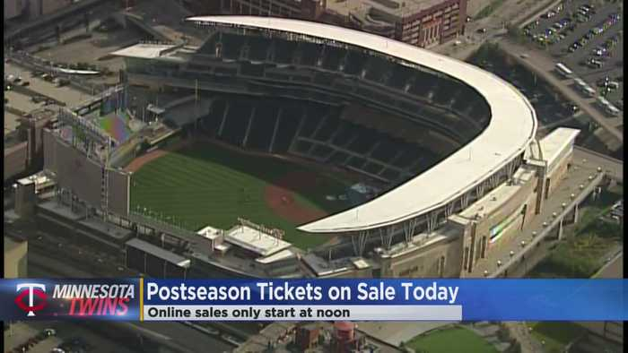 Twins Postseason Tickets On Sale Thursday