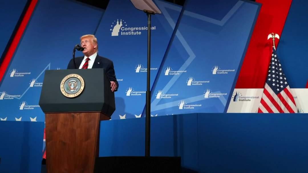'The light's no good, I always look orange': Trump