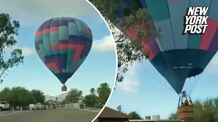 Hot air balloon hits tree: 'Talk about a ride!'