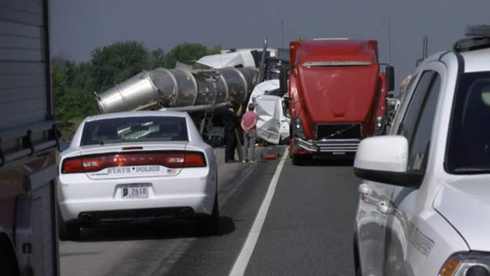 I-65 Crash statistics for Clinton County and Tippecanoe County
