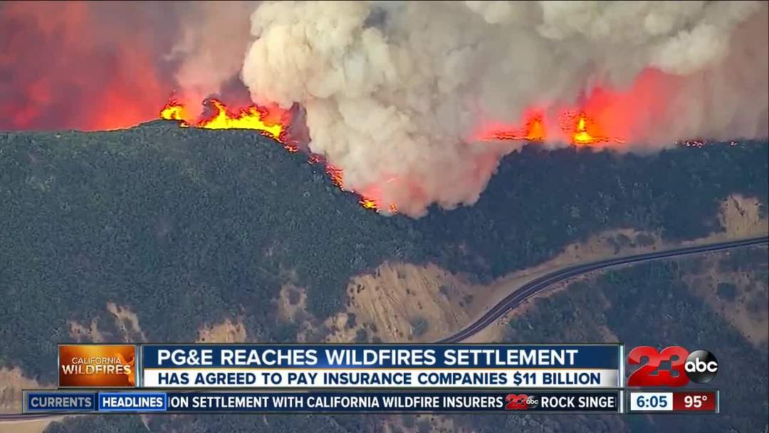 PG&E reaches $11 billion deal with Northern California wildfire insurers