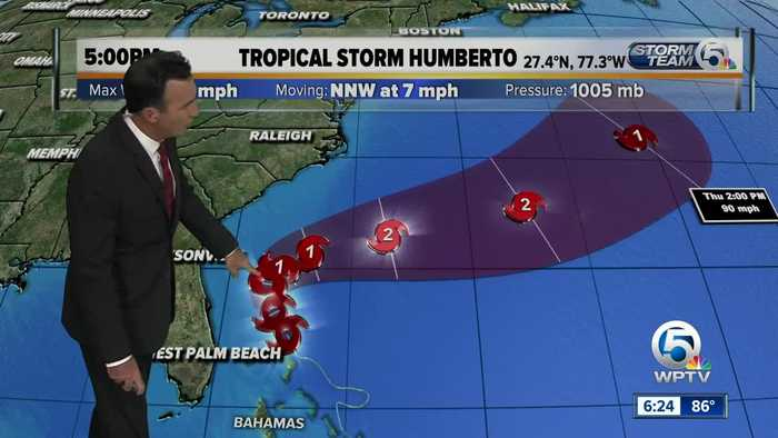 Tropical Storm Humberto update - 9/14/19