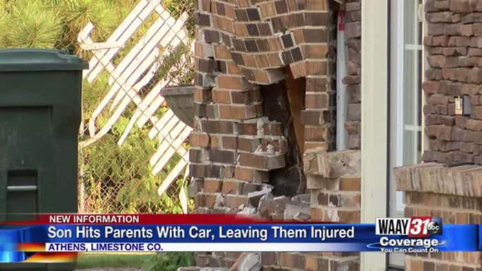 Son hits parents with car, leaving them injured