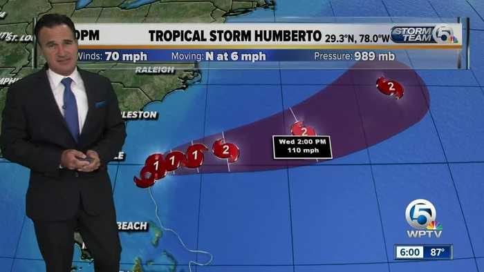 Tropical Storm Humberto update 9/15/19