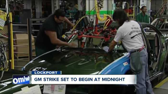 GM strike planned for midnight